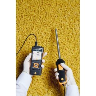 Robustní vlhkostní – teplotní sonda pro teploty do +180 °C, spřipojovacím kabelem
